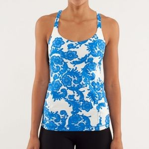 Lululemon Free To Be Tank White and Blue 2